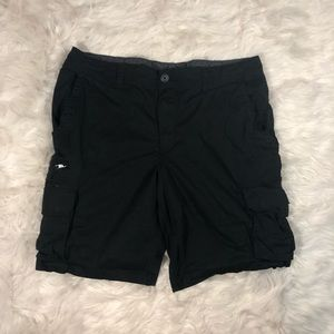George Men's Black Cargo Shorts Size 38